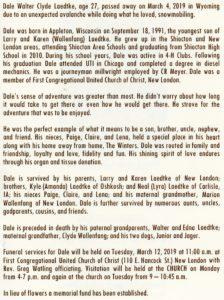 Dale's Obituary